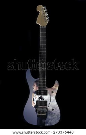 Custom shop design electric guitar  - stock photo