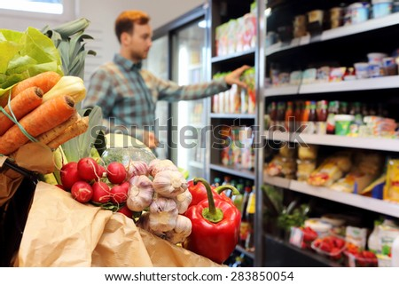 Customer at the grocery store - stock photo