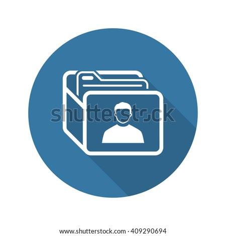 Customer Base Icon. Business Concept. Flat Design. Isolated Illustration. - stock photo
