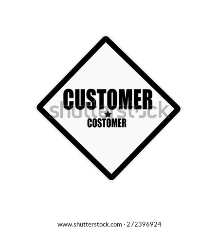 Customer black stamp text on white background - stock photo