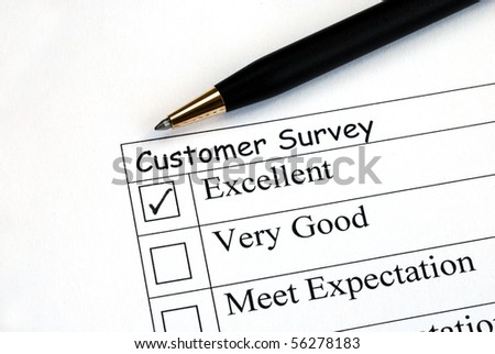 Customer fills in the feedback survey