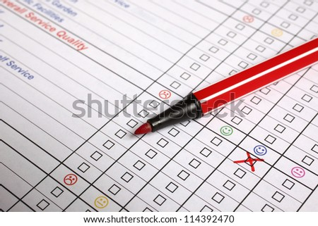 customer information form - stock photo