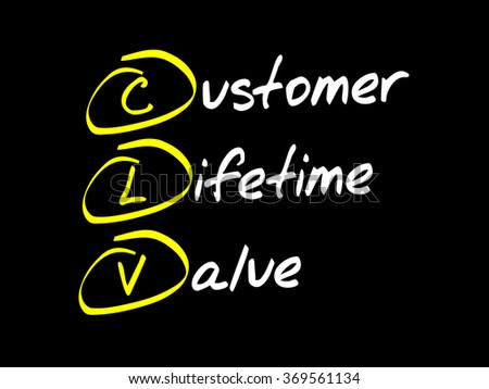 Customer Lifetime Value (CLV) acronym, business concept background