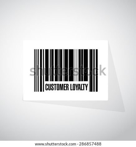 customer loyalty barcode sign concept illustration design over white - stock photo