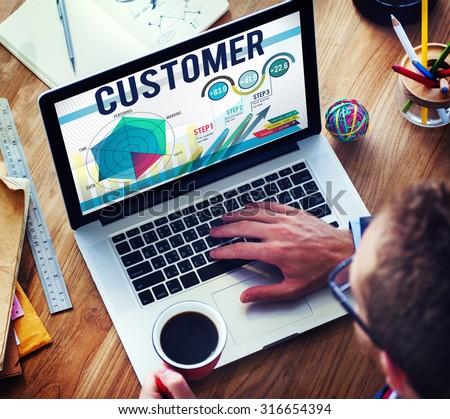 Customer Loyalty Service Efficiency Strategy Concept - stock photo