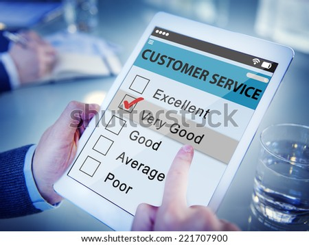 Customer Ranking an Online Service Quality - stock photo