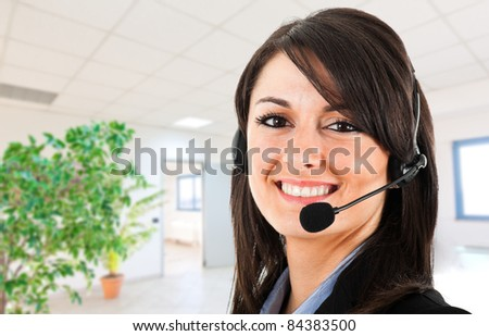 Customer representative portrait - stock photo