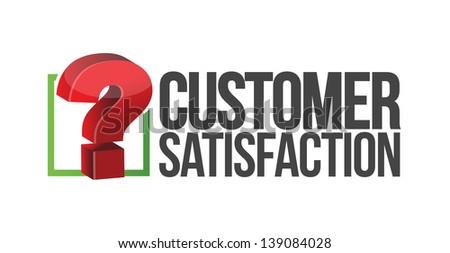 customer satisfaction question mark unknown. illustration design - stock photo