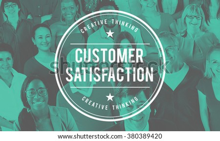 Customer Satisfaction Service Business Marketing Strategy Concept - stock photo