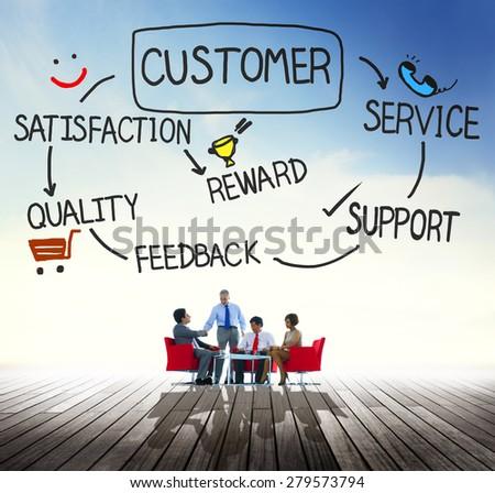 Customer Satisfaction Service Consumersim Support Concept - stock photo