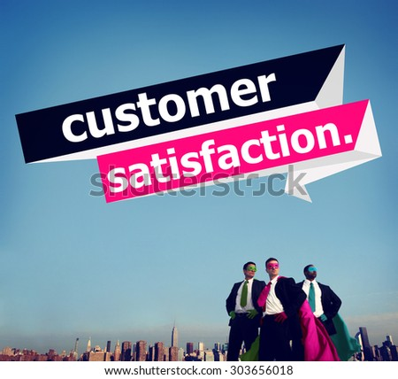 Customer Satisfaction Service Effciency Consumer Concept - stock photo