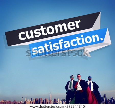 Customer Satisfaction Service Efficiency Consumer Concept - stock photo