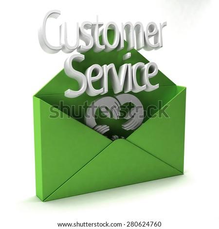 Customer Service Ad - stock photo
