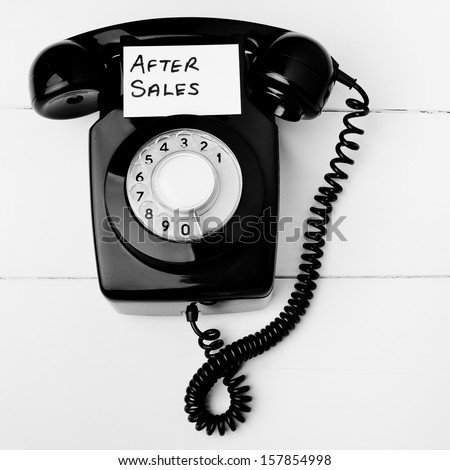 Customer service after sales  - stock photo
