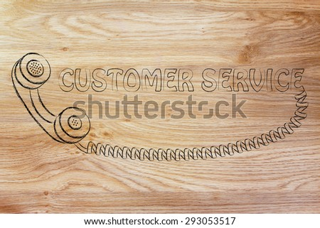 customer service and after sale support, funny phone illustration