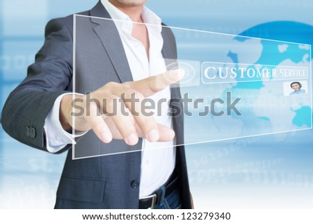 Customer Service , Background  For Business Concept And Ideas - stock photo