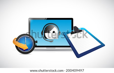 customer service business technology illustration design over a white background