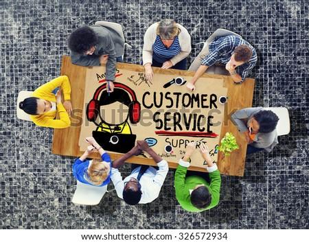 Customer Service Call Center Agent Care Concept - stock photo