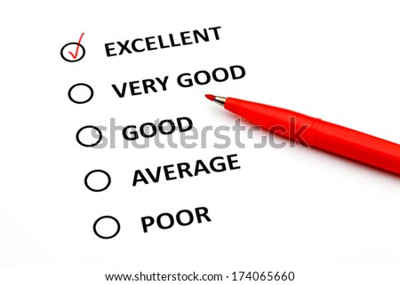 Customer service checkbox - stock photo
