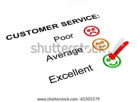 Customer Service Excellent Rating - stock photo