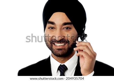 Customer service executive assisting customer - stock photo