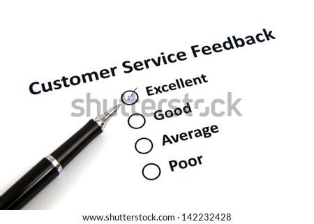 Customer Service Feedback - stock photo