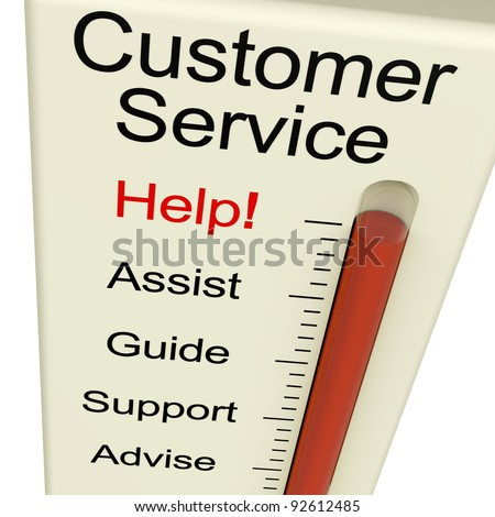 Customer Service Help Monitor Shows Assistance Guidance And Support