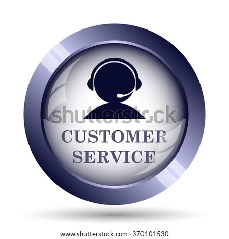 Customer service icon. Internet button on white background.