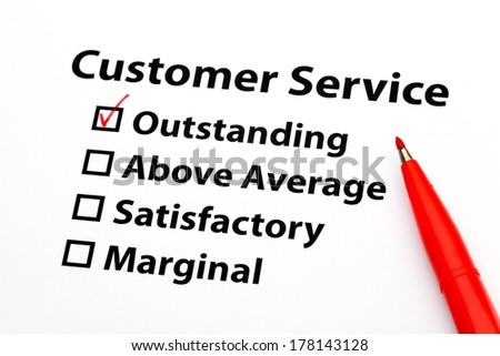Customer service performance appraisal - stock photo