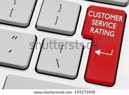 Customer service rating - stock photo