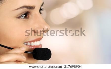 Customer Service Representative. - stock photo