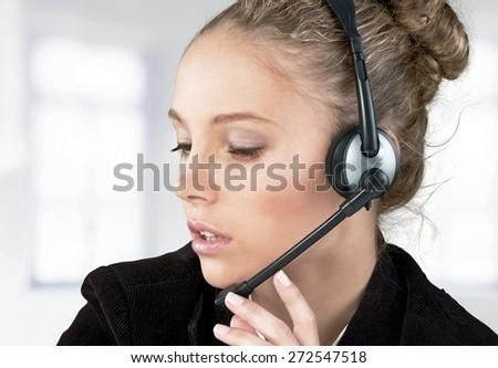 Customer Service Representative. Service with a Smile - #63 - stock photo