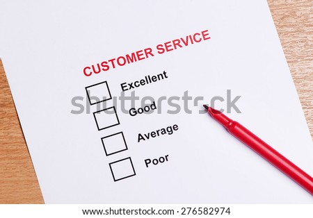 Customer service satisfaction checkbox - stock photo