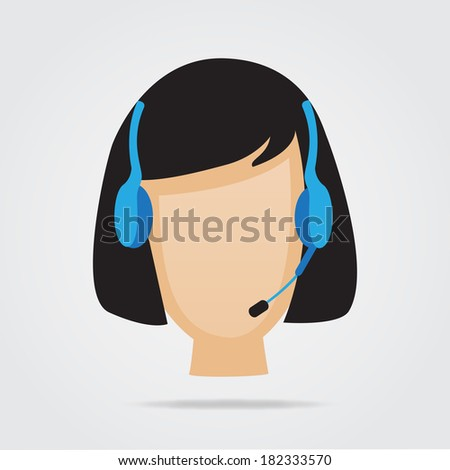 Customer Service Support Illustration. (EPS vector version also available in portfolio) - stock photo