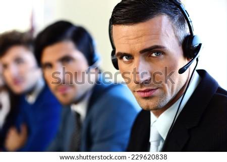 Customer service team - stock photo