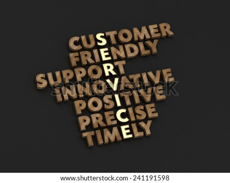 Customer Service Typo with Service as Central Idea - stock photo