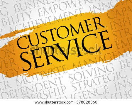 Customer Service word cloud, business concept - stock photo