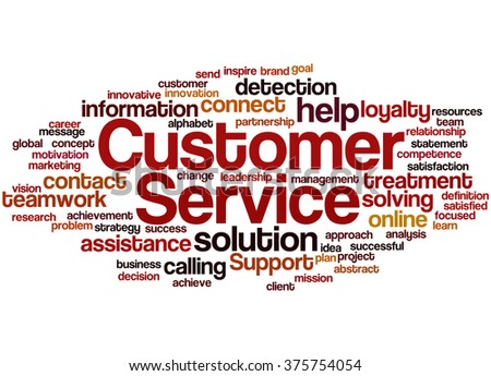 Customer Service, word cloud concept on white background. - stock photo