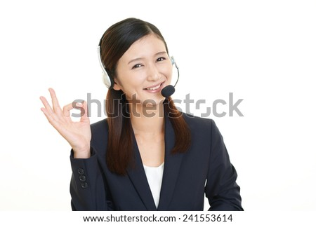 Customer services operator - stock photo