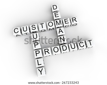 Customer supply demand product cubes