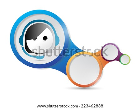 customer support contact us tablet and icons illustration design over a white background - stock photo