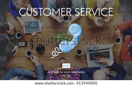Customer Support Service Care Consumer Client Concept - stock photo