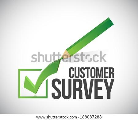 customer survey check mark illustration design over a white background - stock photo
