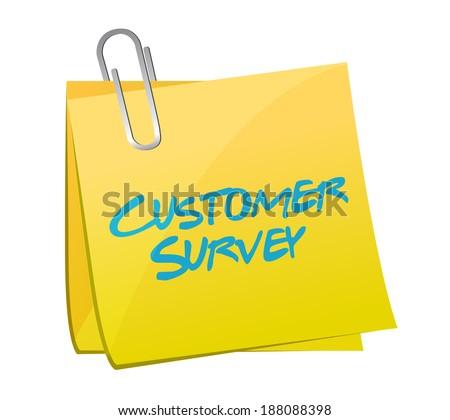 customer survey post illustration design over a white background - stock photo