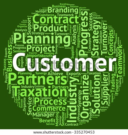 Customer Word Showing Patronage Wordcloud And Customers