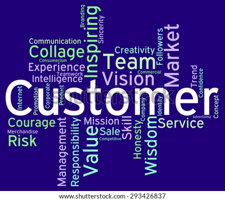Customer Words Showing Shoppers Consumers And Consumer