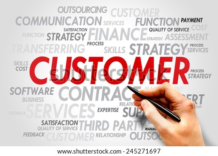 Customer words tag cloud, business concept