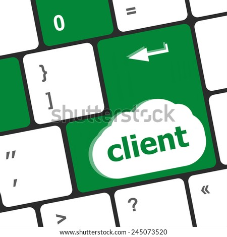 Customers Service Concept. Button on Modern Computer Keyboard with Word Clients on It - stock photo