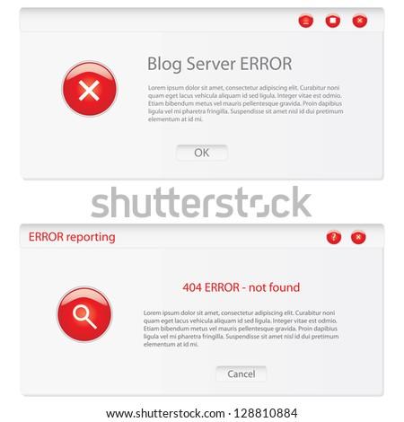 customizable error window - stock photo