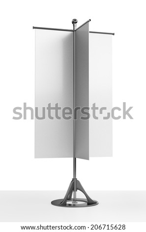 customizable vertical flags or banners - stock photo